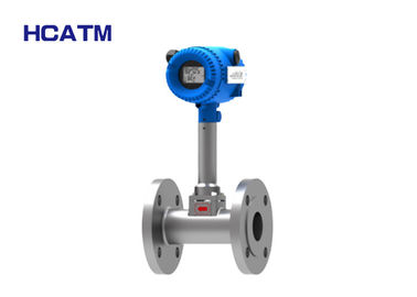 304 Stainless Steel Vortex Flow Meter Low Gas Flow Rate With LCD Display