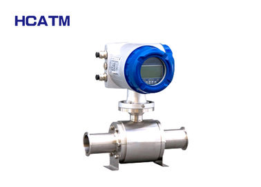 Stainless Steel Hygienic Electromagnetic Flow Meter Easy Installation