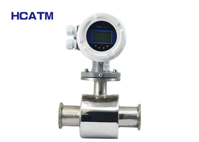 Clamp Type Electromagnetic Flow Meter Conductive Liquid Medium With High Precision