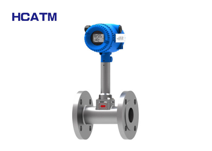 304 Stainless Steel Vortex Flow Meter Low Gas Flow Rate With LCD Display supplier