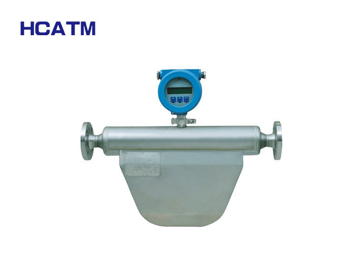 High Accuracy Coriolis Flow Transmitter , Coriolis Mass Flow Meter With LCD Display