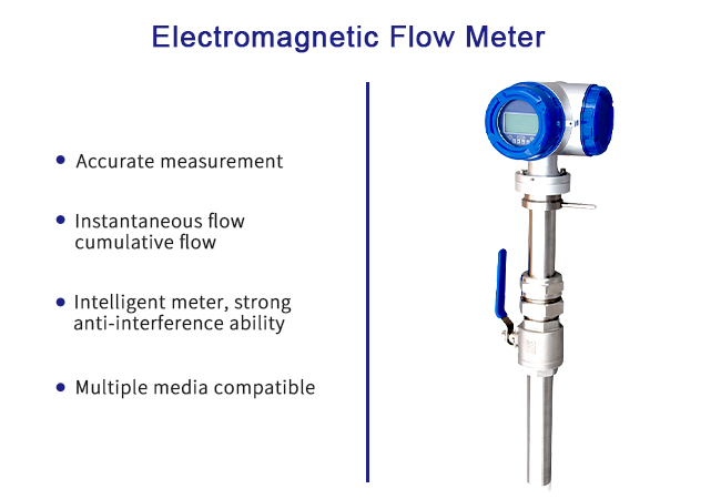 Insertion Type Electromagnetic Flow Meter Multiple Media Compatible 0