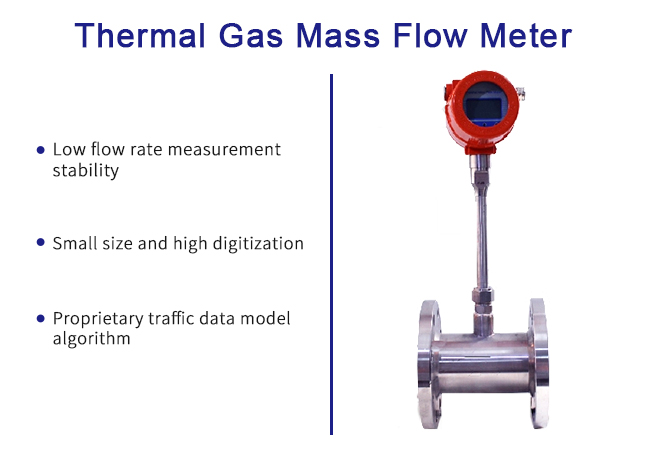 High-performance intelligent microprocessor and analog-to-digital Thermal gas mass flow meter 0